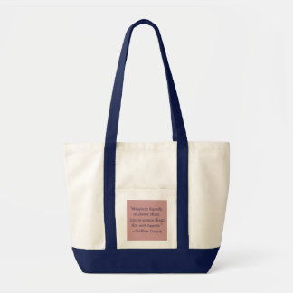 William Cowper Happiness Quote Bag