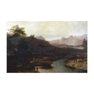 William Daniell View in China Cultivating Tea Canvas Print