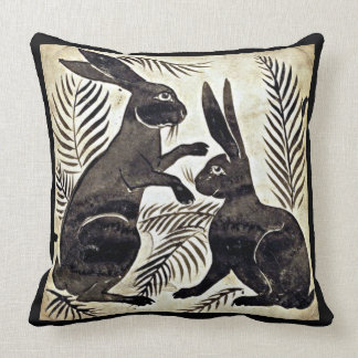 William De Morgan Rabbits Throw Pillow