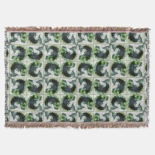William De Morgan Victorian Textiles Throw Blanket