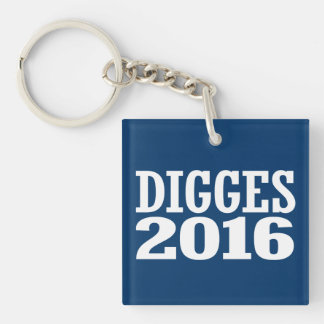 William Digges 2016 Double-Sided Square Acrylic Keychain