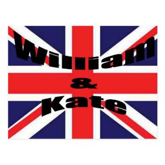 William et Kate Carte Postale