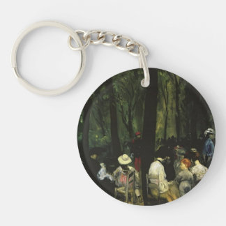 William Glackens- Under Trees, Luxembourg Gardens Single-Sided Round Acrylic Keychain