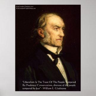 """William Gladstone """"Liberals & Conservative"""" Poster"""