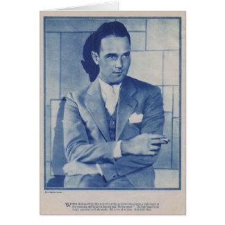 William Haines 1927 silent movie actor portrait Card