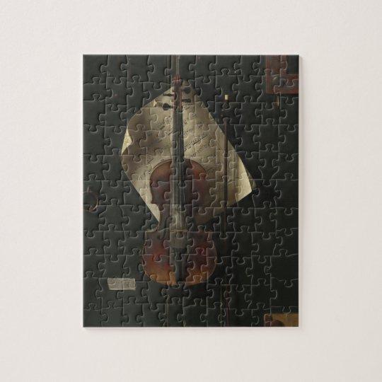 William Harnett The Old Violin Jigsaw Puzzle