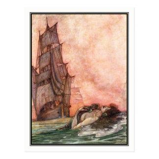 William Heath Robinson - Vintage Ship Art Postcard