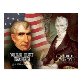 William Henry Harrison - 9th President of the U.S. Postcard