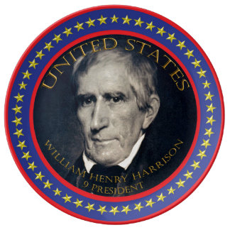 William Henry Harrison 9th President Plate