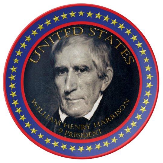 William Henry Harrison 9th President Porcelain Plate