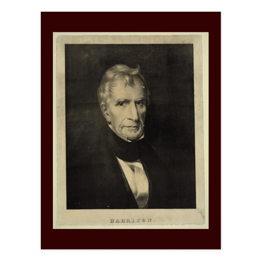 William Henry Harrison, Ninth President postcard
