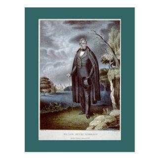 William Henry Harrison portrait postcard