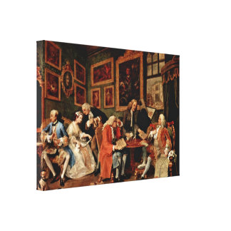 William Hogarth - The Marriage Contract Canvas Print