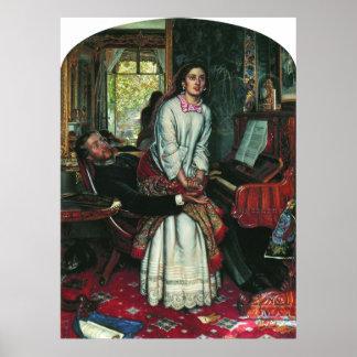 William Holman Hunt Awakening Conscience Poster