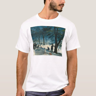 William James Glackens Central Park Winter T-Shirt