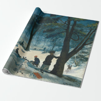 William James Glackens Central Park Winter Wrapping Paper
