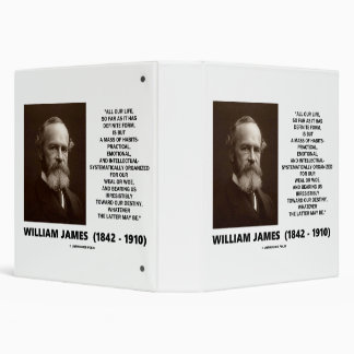 William James Mass Of Habits Destiny Quote 3 Ring Binders