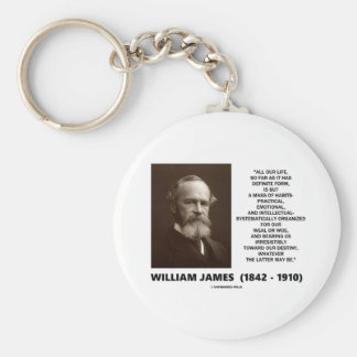 William James Mass Of Habits Destiny Quote Basic Round Button Keychain