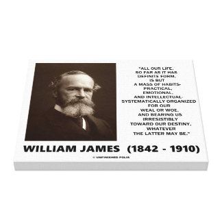 William James Mass Of Habits Destiny Quote Canvas Print