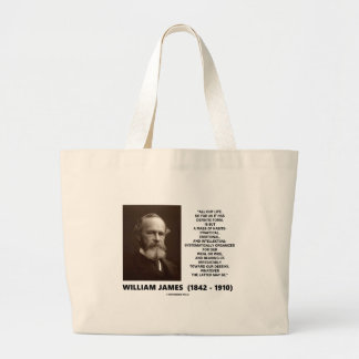 William James Mass Of Habits Destiny Quote Large Tote Bag