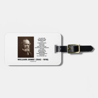 William James Mass Of Habits Destiny Quote Luggage Tag