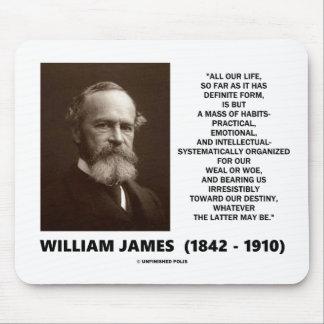 William James Mass Of Habits Destiny Quote Mouse Pad