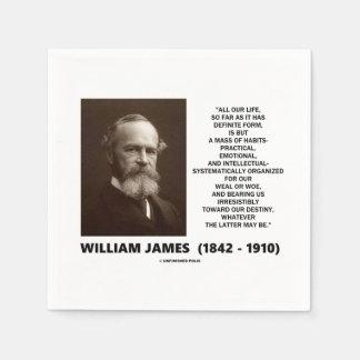 William James Mass Of Habits Destiny Quote Paper Napkins