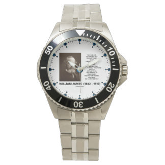 William James Mass Of Habits Destiny Quote Wristwatches