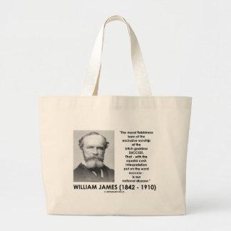 William James Moral Flabbiness Worship Success Large Tote Bag