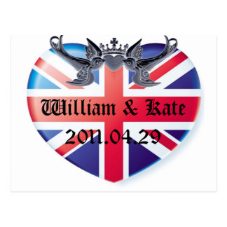 William & Kate 2011.04.29 Save The Date Postcard