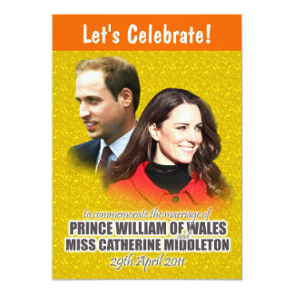 William & Kate Royal Wedding Invitations