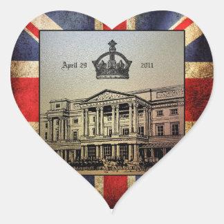 William & Kate's Royal Wedding Heart Sticker