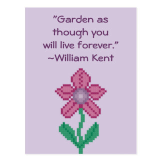 William Kent Garden Quote Postcard