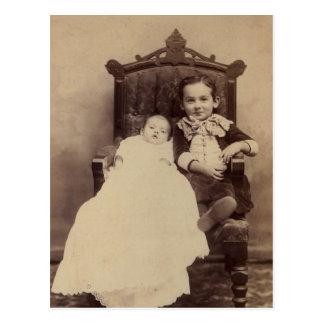 William LAHR (1875-1918) & sibling Postcard