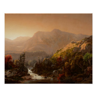 William Louis Sonntag - Autumn Landscape Poster