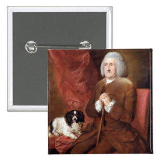 William Lowndes (1652-1724), Auditor of His Majest 2 Inch Square Button