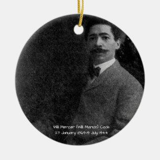 William Mercer (Will Marion) Cook Ceramic Ornament
