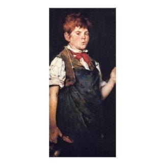 William Merritt Chase-The Apprentice (Boy Smoking) Customized Rack Card
