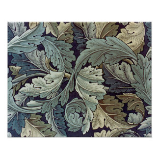 William Morris Acanthus Floral Wallpaper Design Poster