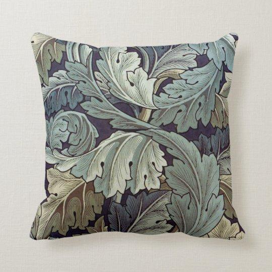 William Morris Acanthus Floral Wallpaper Design Throw Pillow