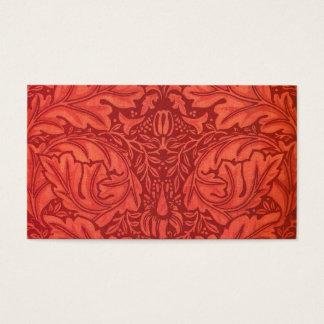 William Morris Acanthus For Velveteen Design Business Card