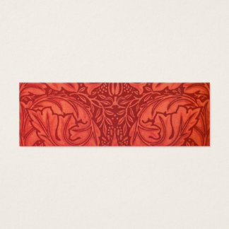 William Morris Acanthus For Velveteen Design Mini Business Card