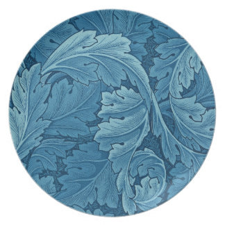 William Morris Acanthus in Blue Party Plate
