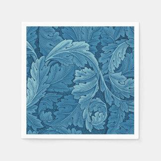 William Morris Acanthus Vintage Blue Disposable Napkins