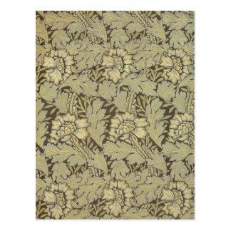 William Morris Anemone Pattern Postcard