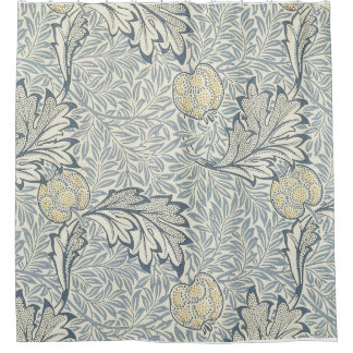 William Morris Apple Pattern Shower Curtain.