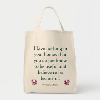 William Morris -Arts & Crafts Grocery Bag