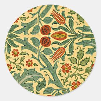 William Morris - Autumn Flower pattern Round Sticker