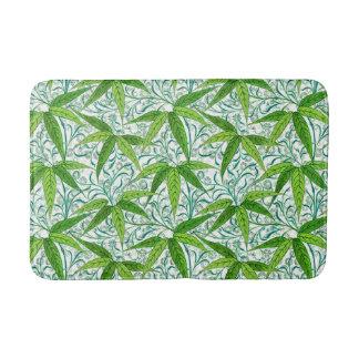 William Morris Bamboo Print, Green and White Bath Mat