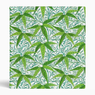 William Morris Bamboo Print, Green and White Binder